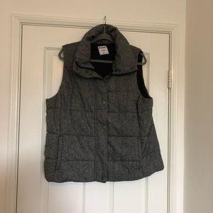 Gray & Black Tweed Fleece Vest